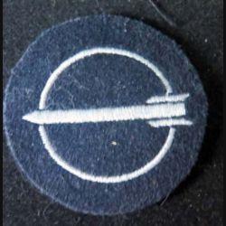MILITARIA : insigne tissu allemand d'opérateur de missiles de diamètre 5 cm
