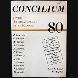 1. Concilium - Revue internationale de théologie 80 aux éditions Mame