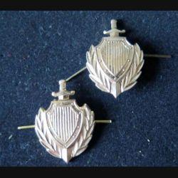 RUSSIE : insigne métallique de col de la police russe de dimension 3 x 2,2 cm