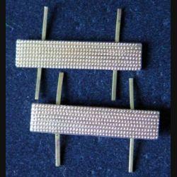 RUSSIE : paire de galon métallique du rang de police russe / URSS de dimension 4,5 x 2 cm