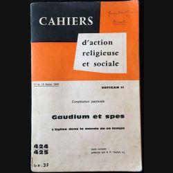 1. Cahiers d'action religieuse et sociale - Gaudium et spes de J. Y Calvez aux éditions Saint-Paul