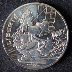 EUROS : pièce de 10 euros en argent LIBERTE Astérix et la Liberté dans son livret