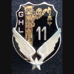 11° GHL : insigne du 11° groupe d'hélicoptères légers de fabrication Drago G. 2557