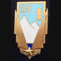 PA 29° DI : insigne métallique du peloton d