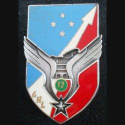 12° GHL : insigne du 12° groupe d'hélicoptères légers de fabrication Drago G. 2610