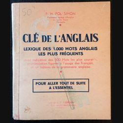 1. Clé de l'anglais de P.H Pol-Simon aux éditions librairie P. Ferran