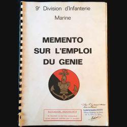 1. 9e Division d'Infanterie Marine memento sur l'emploi du génie
