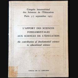 1. L'apport des sciences fondamentales aux sciences de l'éducation aux éditions Cercle de la librairie