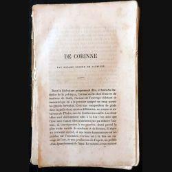 1. Corinne ou l'Italie de Madame De Staël aux éditions Garnier