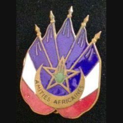AMITIES AFRICAINES ÉMAIL CENTRE PLAT (POINÇON AB)