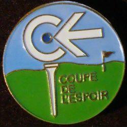 PIN'S GOLF : Couoe de l'espoir de diamètre 2,5 cm