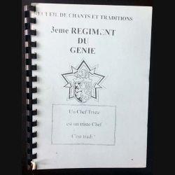 1. Recueil de chants et traditions 3ème régiment du Génie