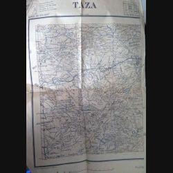 Carte de Taza (Maroc) échelle 1:200 000 feuille n° XVI (Ouest) 1921 (C60)