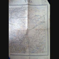 Carte de Taza (Maroc) échelle 1:200 000 feuille n° XVI (Est) 1923 (C60)