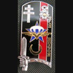 """PROMOTION ENSOA : insigne de la 165° promotion de l'école nationale des sous-officiers d'active """"Sergent-Chef Hugon"""" de fabrication Balme G. 4400"""