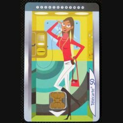 TELECARTE : télécarte lles cabines d'ascenseur 50 unités 01/09/2003