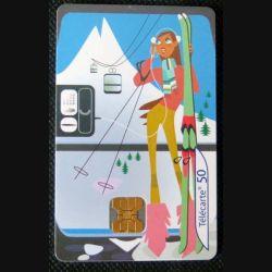 TELECARTE : télécarte les cabines de téléphérique 50 unités 01/08/2003