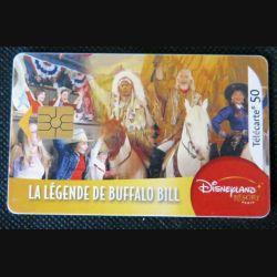 TELECARTE : télécarte la légende buffalo Bill 50 unités 01/09/2005