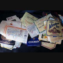 ETIQUETTES DE VIN : Plus de 350 étiquettes de bière et de vin diverses et variées avec quelques doublons