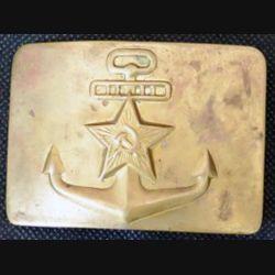 RUSSE : plaque de ceinturon de la marine russe de largeur 7 cm