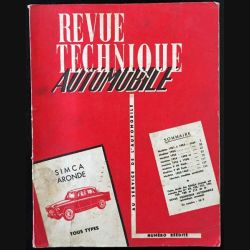 1. Revue technique automobile Simca aronde tous types