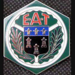EAT : insigne métallique de l'école d'application du train réalisé par Arthus Bertrand pour les Editions Atlas
