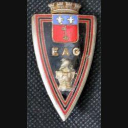 EAG : insigne de l'école d'application du génie de fabrication Drago H. 250 en émail