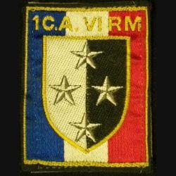 1°CA-VI°RM : 1°CORPS D'ARMÉE VI°RÉGION MILITAIRE (TISSU)