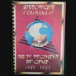 1. Historique complément du 71ème régiment du génie 1985-1997