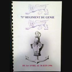 1. Le 71° régiment du génie au Valdahon du 8 au 20 novembre 1995