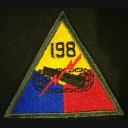 USA : 198° Armored division US army patch