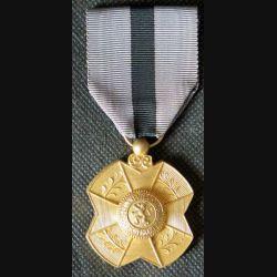 BELGIQUE : médaille d'Or de l'Ordre de Léopold II