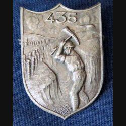 PIONNIERS : insigne métallique du 435° régiment de pionniers de fabrication Moret