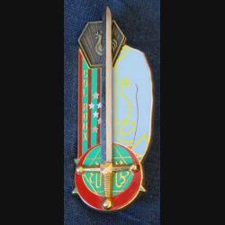 PROMOTION EOR COET : insigne métallique de la promotion des élèves officiers de réserve Colonel Roux de fabrication Arthus Bertrand PARIS G. 4267