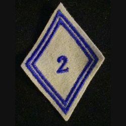 LOSANGE DE BRAS MODÈLE 45 : 2°RÉGIMENT MATÉRIEL (RMAT) TROUPE