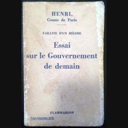1. Essai sur le Gouvernement de demain de Henri aux éditions Flammarion 1936