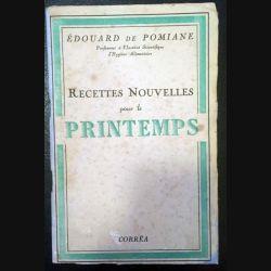 1. Recettes nouvelles pour le printemps de Édouard de Pomiane aux éditions Corrêa