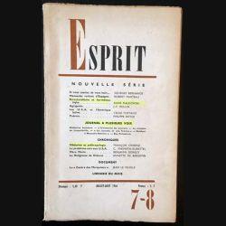 1. Esprit nouvelle série 7-8 Juillet-Aout 1966