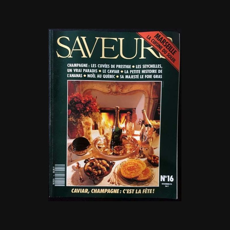 Saveurs n 16 d cembre 1991 marseille la cuisine du soleil for La cuisine du soleil