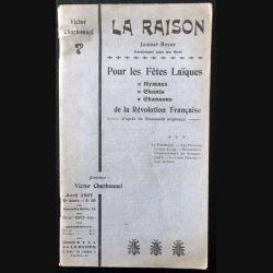 1. La raison Journal-Revue Pour les fêtes Laïques de la Révolution Française de Victor Charbonnel