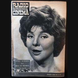 1. Radio télévision cinéma n°477 - Dimanche 8 Mars 1959 Sophie Desmarets dans drôles de phénomènes