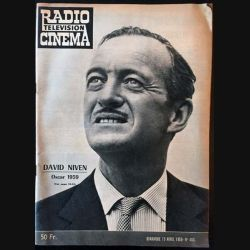 1. Radio télévision cinéma n°483 - Dimanche 19 Avril 1959 David Niven Oscar 1959