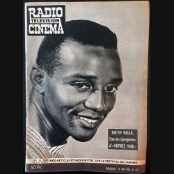 """1. Radio télévision cinéma n°488 - Dimanche 24 Mai 1959 Bruno Mello, l'un des interprètes d'""""Orphée noir"""""""