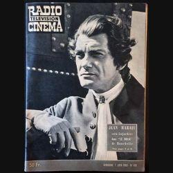 """1. Radio télévision cinéma n°490 - Dimanche 7 Juin 1959 Jean Marais sera Lagardère dans """"Le bossu"""" de Hunebelle"""