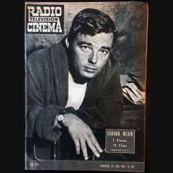 1. Radio télévision cinéma n°493 - Dimanche 28 Juin 1959 Gérard Blain 3 Pièces, 10 Films