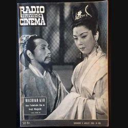 1. Radio télévision cinéma n°494 - Dimanche 5 juillet 1959 Machiko Kyo dans l'admirable film de Kenji Mizoguchi