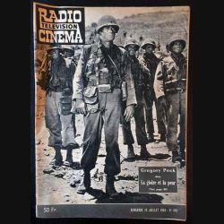1. Radio télévision cinéma n°495 - Dimanche 12 juillet 1959 Gregory Peck dans La gloire et la peur