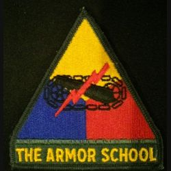 USA : The armor school US army patch