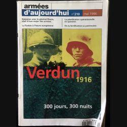 1. Armées d'aujourd'hui n°210 mai 1996 Verdun 1916 300 jours, 300 nuits