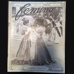 1. Femina n°106 - 15 Juin 1905 aux éditions Pierre Lafitte & Cie